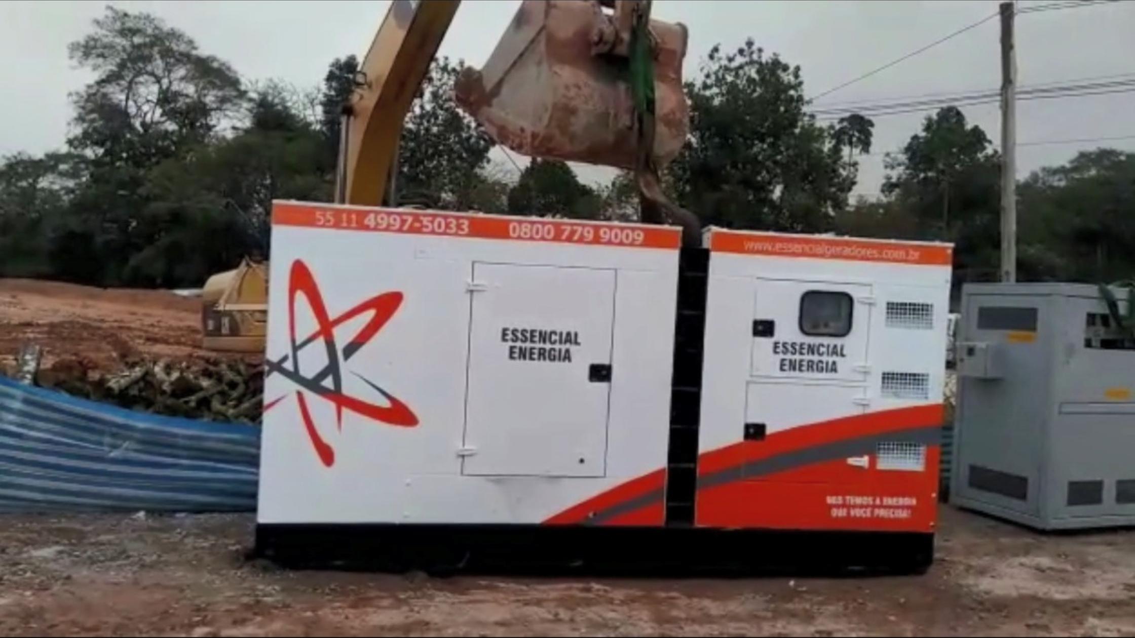 Movimentação de Gerador de Energia em condição adversa